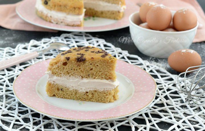 Torta veloce yogurt al caffè e panna (solo con 2 uova)