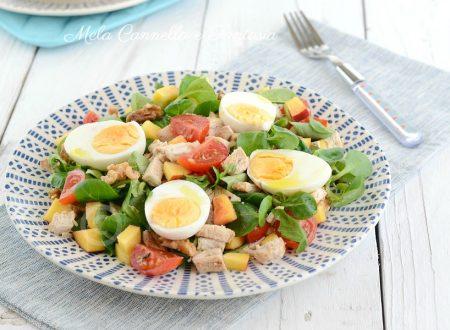 Pollo freddo in insalata - ricetta estiva light in 5 minuti!
