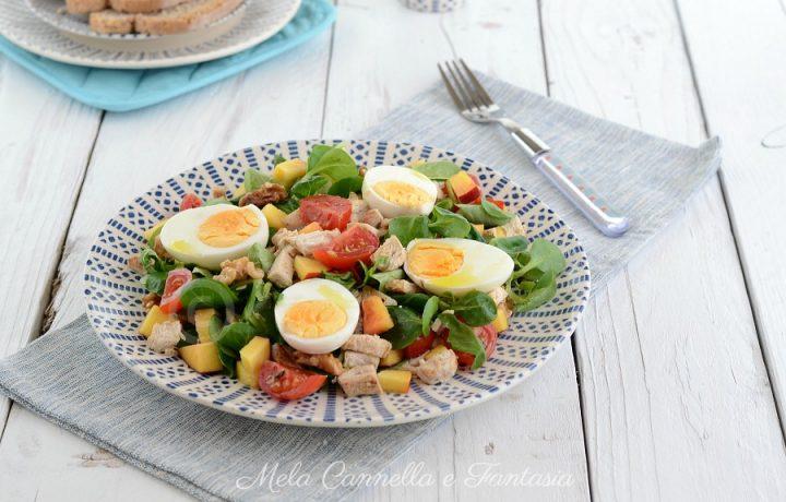 Pollo freddo in insalata – ricetta estiva light in 5 minuti!