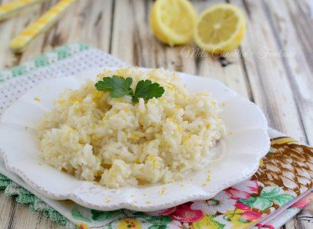 Risotto al limone - primo piatto light facile e veloce