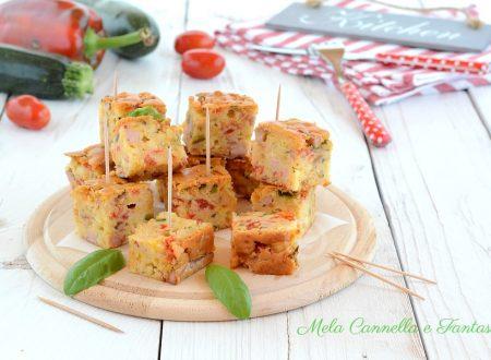 Quadrotti sfiziosi con verdure e formaggio – ricetta facile