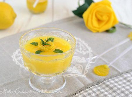 Crema di limone all'acqua leggerissima e senza latte