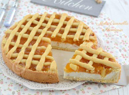 Crostata bigusto con marmellata e ricotta agli amaretti