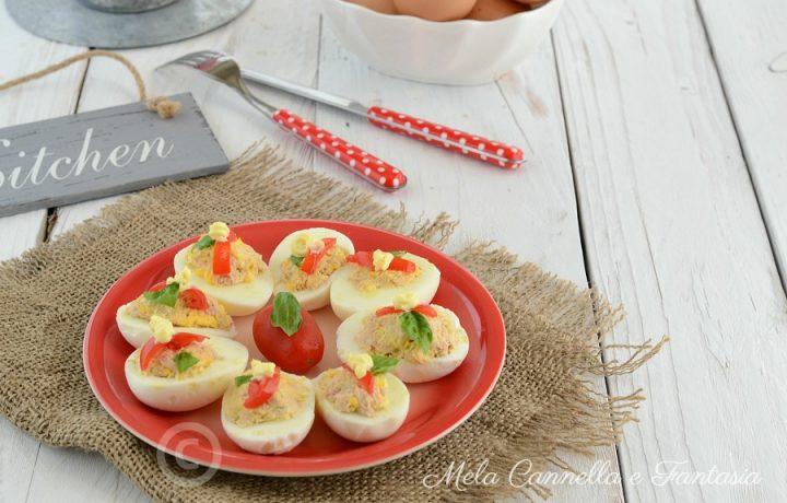 Uova sode farcite – piatto super veloce solo 3 ingredienti