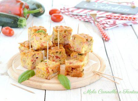 Quadrotti sfiziosi con verdure e formaggio - ricetta facile