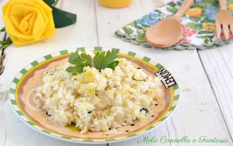 Risotto vongole e limone – ricetta light facile e veloce