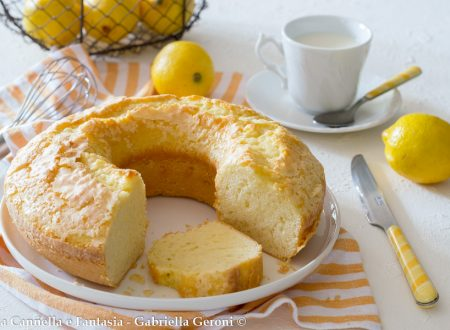 Ciambella al limone morbidissima senza burro né latte