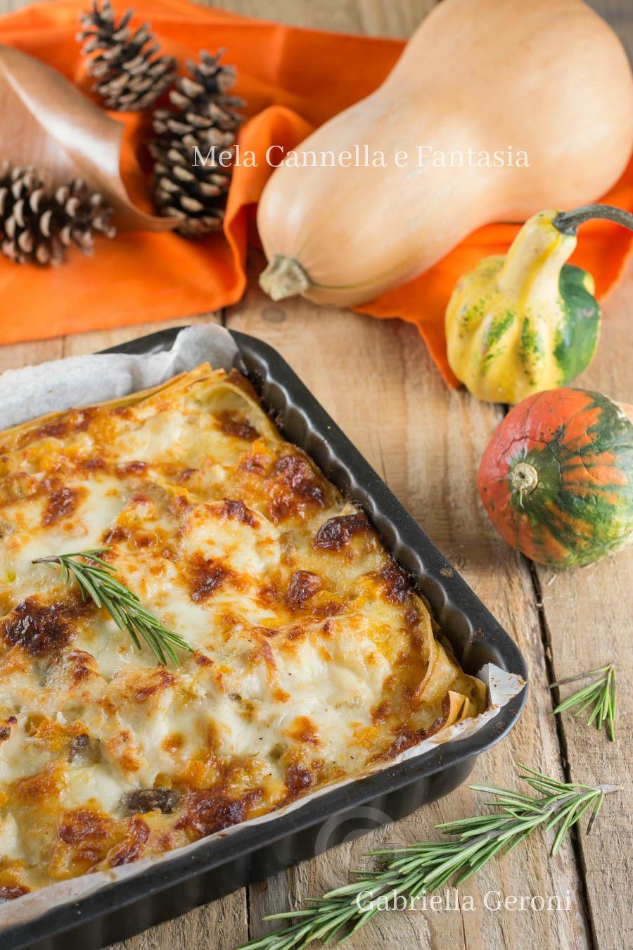 lasagna con zucca