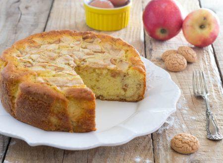 Torta mele amaretti senza burro, morbida e golosissima