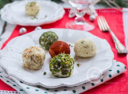 Tartufini salati di ricotta con cuore di mortadella - finger food