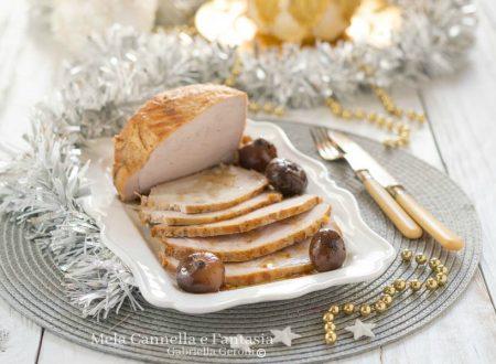 Arista di maiale arrosto con cipolle borettane all'aceto balsamico