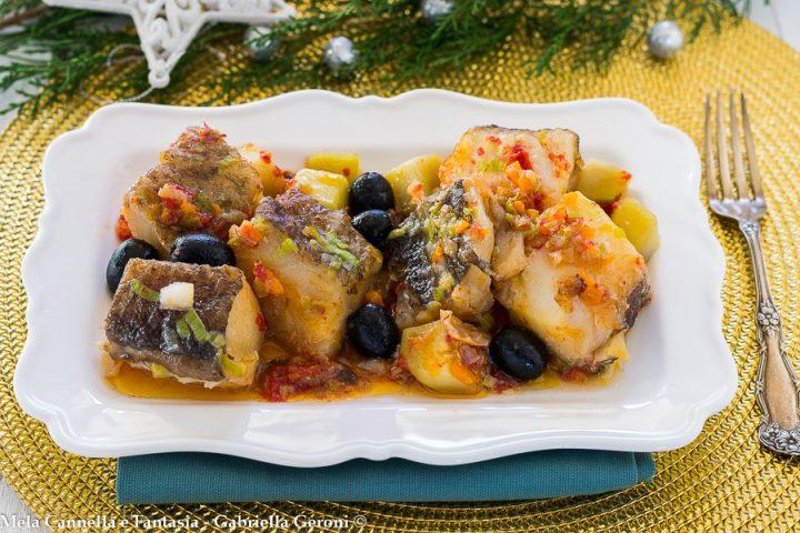 baccalà in padella con olive