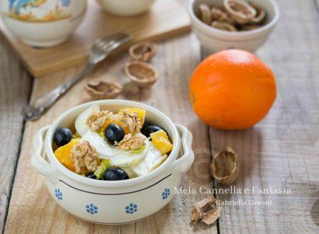 Insalata di arance con finocchi noci e olive nere - ricetta light