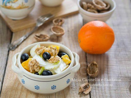 Insalata di arance con finocchi noci e olive nere – ricetta light