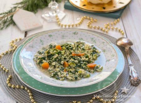 Stracciatella in brodo con spinaci - ricetta tipica abruzzese