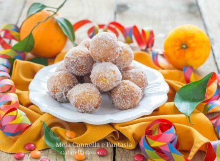 Castagnole al mascarpone e arancia – ricetta senza burro