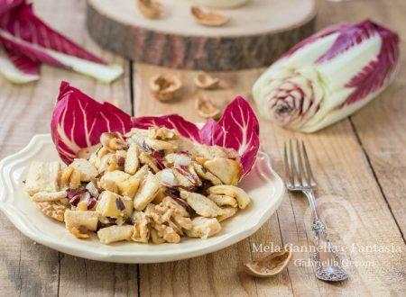 Pollo al radicchio con noci mandorle e nocciole facile e veloce