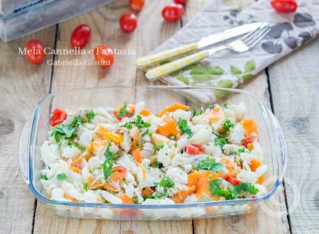 Insalata di baccalà con sottaceti e pomodorini, gustosissima!