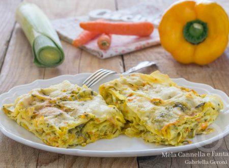Lasagne vegetariane con verdure e pesto di basilico