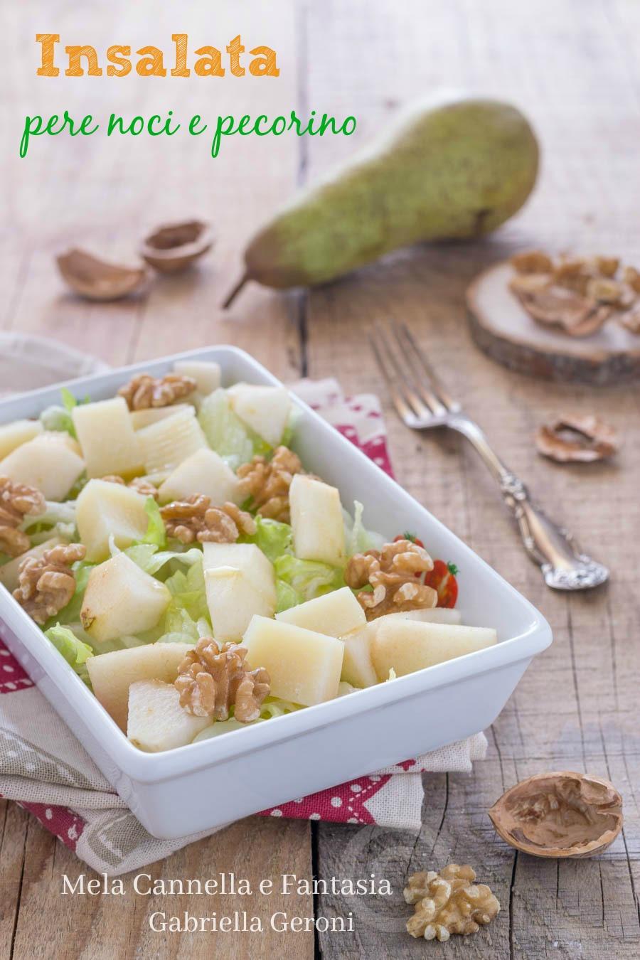 insalata con pere