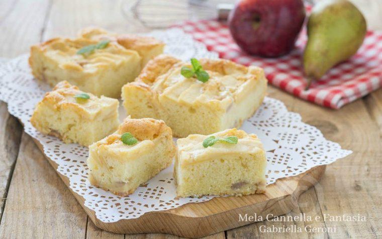 Torta morbida con mele e pere senza burro né latte