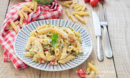 Pasta con ricotta zucchine e pomodorini pachino – ricetta vegetariana