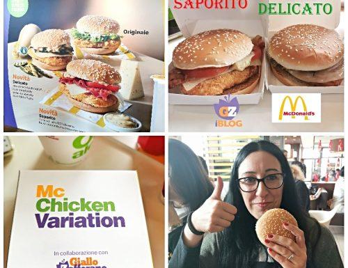I nuovi panini McChicken Variation Delicato e Saporito