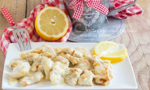 Pollo al limone cremoso – ricetta light facile e velocissima