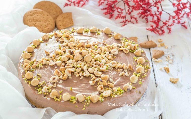 Cheesecake alla Nutella senza cottura cremosa e golosissima