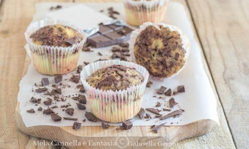 Muffins al cioccolato fondente morbidi senza burro e senza latte