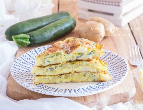 Frittata di zucchine e patate con provola affumicata… gustosissima!