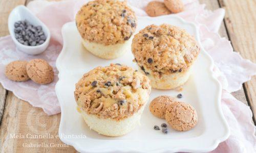 Muffin con amaretti e cioccolato senza burro e senza latte