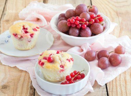Muffins con uva e ribes senza burro e senza latte morbidissimi