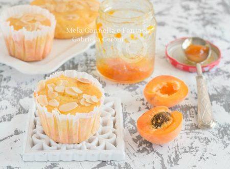 Muffins alle albicocche e confettura morbidi e senza burro