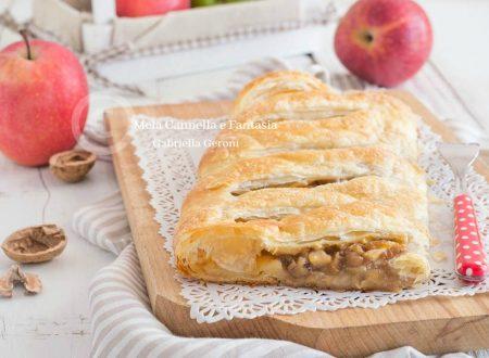 Strudel di mele e noci – ricetta con pasta sfoglia già pronta