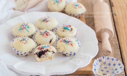 Biscottini di riso farciti con confettura di mirtilli – senza burro