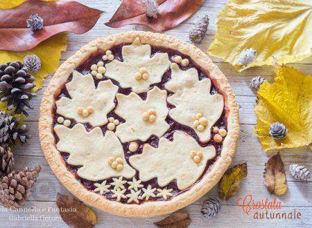 Crostata autunnale con frolla alle mandorle e confettura di prugne
