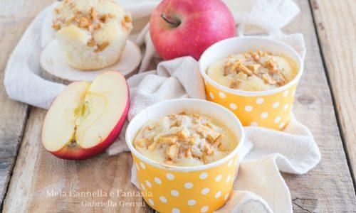 Muffins con le mele e cannella senza burro e senza latte