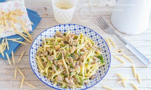 Trofie con funghi porcini salsiccia e zucchine… gustosissime