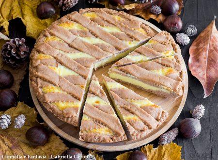 Crostata con farina di castagne e crema al mascarpone