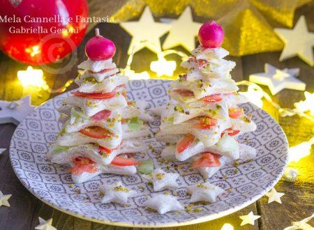 Alberelli di tramezzini con provolone e salame ricetta veloce