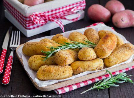 Crocchette di patate con provola affumicata e prosciutto cotto