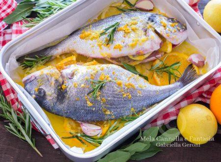 Orata al forno con arancia e limone ricetta facile e gustosa