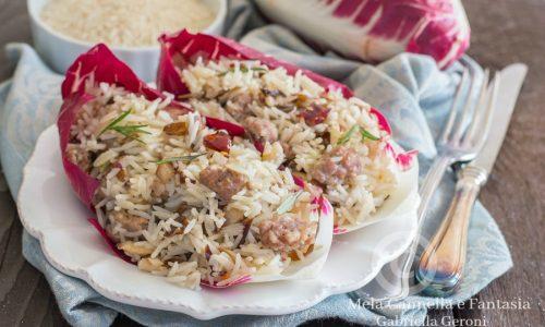 Risotto radicchio e salsiccia primo piatto facile e veloce