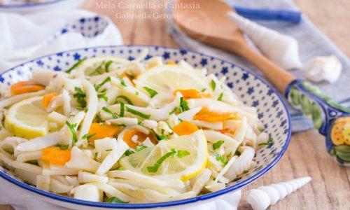 Insalata di seppie con carote ricetta facile e sfiziosa