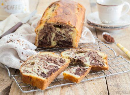 Plumcake variegato al cacao morbido senza burro né latte