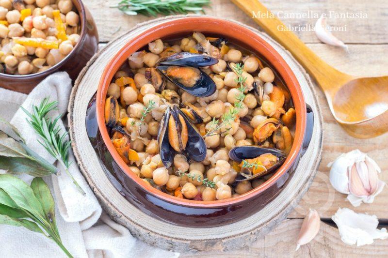 Zuppa di ceci e cozze ricetta facile economica e gustosissima