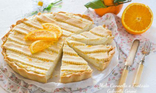 Crostata ricotta e arancia cremosa profumata e golosissima