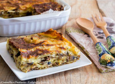 Lasagna funghi prosciutto cotto e mozzarella