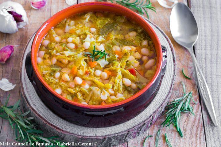 minestra invernale di verza